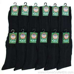 12 PAIRS Men RIBBED NYLON DRESS SOCKS Solid BLACK 10 13