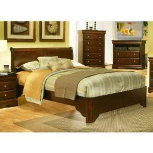 Chesapeake Full Low Profile Sleigh Bed in Cappuccino