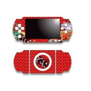 Sony PSP Slim Skin Decal Sticker   Vegas Red Video Games