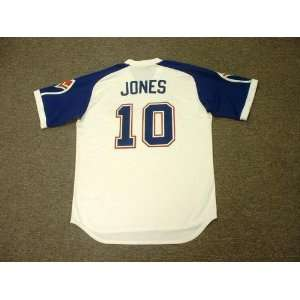 CHIPPER JONES Atlanta Braves 1970s Majestic Cooperstown Throwback