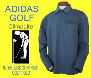 70 ADIDAS Climalite Lycra Stretch GOLF POLO Shirt S
