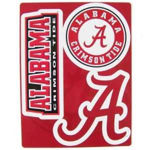ALABAMA CRIMSON TIDE TEAM LOGO CAR FRIDGE MAGNET SET (3