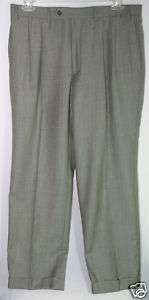 NWT POLO RALPH LAUREN MENS PLAID WOOL DRESS PANTS 36x30