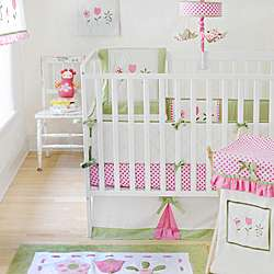 My Baby Sam Tickled Pink 4 piece Crib Bedding Set