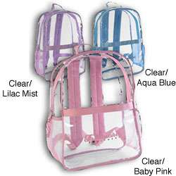 Adventure Trails Girls 16 inch Clear Backpack