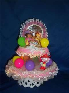 DORA AND BOOTS BIRTHDAY CAKE TOP/TOPPER/NEW