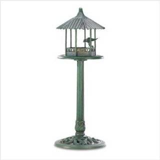 Verdigris Garden Centerpiece Birdbath Bird Feeder Patio