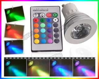 E27 / GU10 Remote Control 16 Multi colors RGB LED Light Bulb lamp 3W