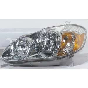 2003 08 TOYOTA MATRIX HEADLIGHT ASSEMBLY, DRIVER SIDE   DOT Certified