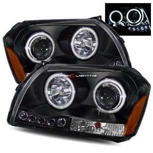 05 07 Dodge Magnum Twin CCFL Halo LED Projector Headlights