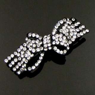 ADDL Item , 1 pc rhinestone crystal bow tie hair
