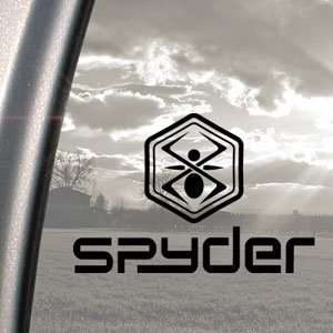 SPYDER LOGO PAINTBALL Black Decal Truck Window Sticker
