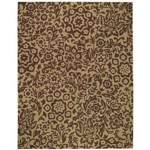 Capel Gaston Floral Lace Cocoa Indoor / Outdoor Rug