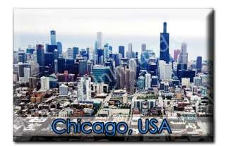 Skyline Downtown CHICAGO   IL Souvenir Fridge Magnet #8