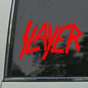 Slayer Red Decal Metal Band Car Truck Window Red Sticker