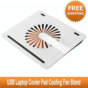 USB Aluminum Laptop Radiator Cooler Pad One Fan Cooling Pad 8 Angles