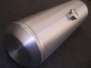 Gear Spun Aluminum TIG Welded Fuel Gas Tank 10 Gallons Baffled 3/8NPT