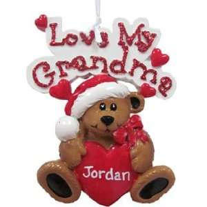 Personalized Love My Grandma Christmas Ornament