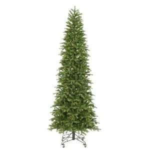 Pre Lit Slim Redwood Pine Christmas Tree   Multicolor Duralit Lights