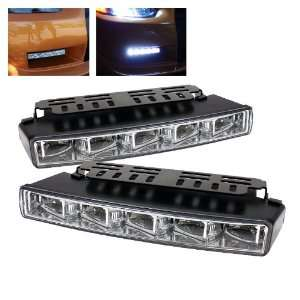 SPYDER Universal DRL (Engine Activated) LED Lights   Chrome /1 pair
