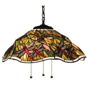 Spiral Dragonfly Tiffany Stained Glass Pendant Lighting