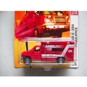 Matchbox Emergency Response Series #55 08 Ford E 350 Ambulance Ambu