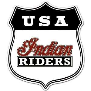 USA Indian Riders Motorcycle Biker Racing Car Bumper Sticker Decal 4.5
