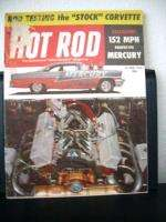 Hot Rod Magazine, October 1956, Stock Corvette