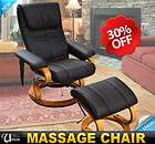 Leather Professional TV Office Massage Chair Soft With Ottoman Brown