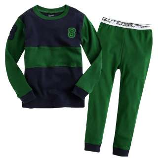 Baby Baby & Toddler Kids Boy Sleepwear Pajama Set  Green 8