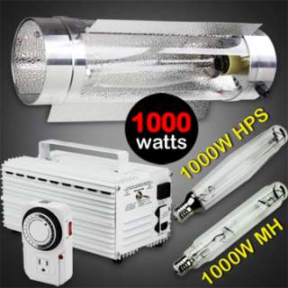 1000W WATT HPS MH GROW LIGHT AIR COOL HYDROPONIC SYSTEM