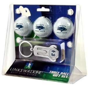Nevada Wolf Pack 3 Golf Ball Gift Pack w/ Hat Clip   NCAA College