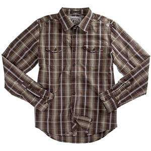 Fox Racing Jagged Woven Shirt   X Large/Brown Automotive