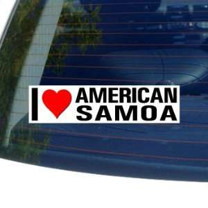 I Love Heart AMERICAN SAMOA   Window Bumper Sticker