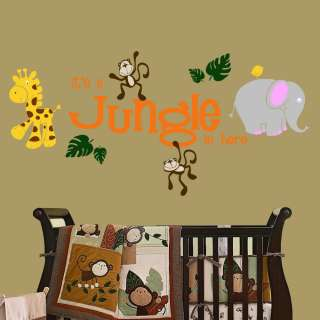 in here with Jungle Friends Wall Decal Nursery Kids Room Decor