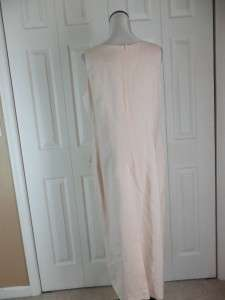 NWT NEW Jessica Howard Long Sleeveless Dress Size 14 Soft Pink Linen