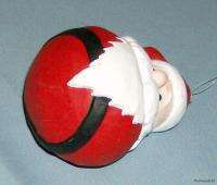 Handpainted Round Bottom Santa Christmas Ornament