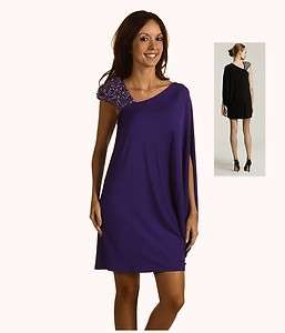 295 LAUNDRY SHELLI SEGAL JERSEY BEADED BATWING DRESS 12