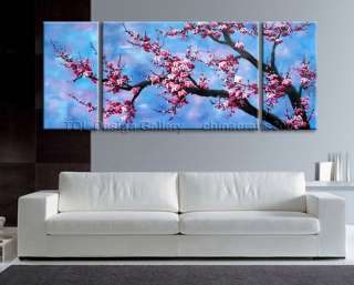 SALE Huge Zen Japanese Cherry Blossom Signed Original Abstract Art Oil