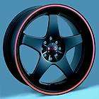 18 XXR 962 WHEELS 18x7.5 BLACK/RED RIMS 4 LUG
