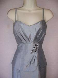 Silver Cocktail Evening Dress & 3/4 Sleeve Bolero Jacket 6 NWT