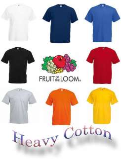 Fruit of the Loom Heavy Cotton T Shirt S XXL viele Farben
