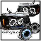 2006 2008 FORD F150 BLK HALO HEAD LIGHTS+SMOKE FOG 2007