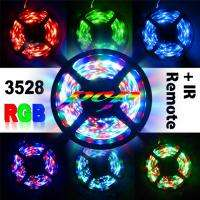 5M Waterproof RGB 270 Leds 3528 SMD LED Strip Light + 24Key IR Remote