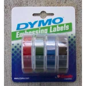Dymo Embossing Labels   4 Colors   Red, Green, Blue and