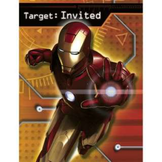Halloween Costumes Iron Man Invitations (8 count)
