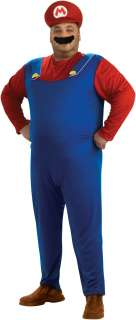 Super Mario Bros.   Mario Plus Adult Costume   Includes Jumpsuit, hat