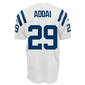 Colts NFL Jerseys #29 Joseph Addai WHITE Authentic Football Jersey