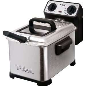 Deep Fryer with Stainless Steel Waffle, Silver