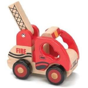 Wooden Fire Truck from Little Rigs Collection Toys